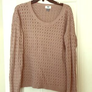 Crew neck old navy knit sweater